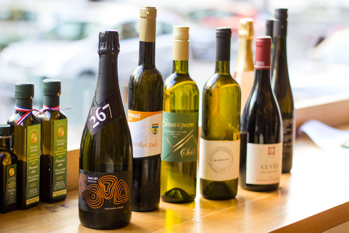 Odličan izbor vina hrvatskih vinara.